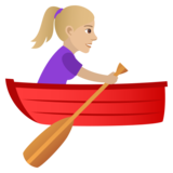 Woman Rowing Boat: Medium-Light Skin Tone on JoyPixels 6.0
