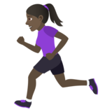 Woman Running: Dark Skin Tone on JoyPixels 6.0