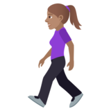 Woman Walking: Medium Skin Tone on JoyPixels 6.0