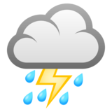 Cloud with Lightning and Rain on JoyPixels 6.5
