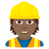 Construction Worker: Medium-Dark Skin Tone on JoyPixels 6.5