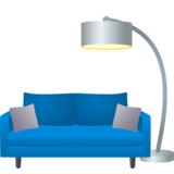 Couch and Lamp on JoyPixels 6.5