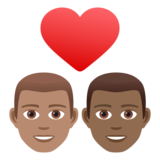 Couple with Heart: Man, Man, Medium Skin Tone, Medium-Dark Skin Tone on JoyPixels 6.5