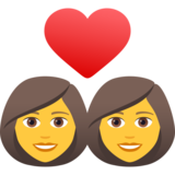 Couple with Heart: Woman, Woman on JoyPixels 6.5