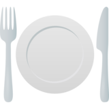 Fork and Knife with Plate on JoyPixels 6.5