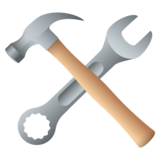 Hammer and Wrench on JoyPixels 6.5