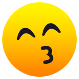 Kissing Face with Smiling Eyes on JoyPixels 6.5
