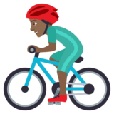 Man Biking: Medium-Dark Skin Tone on JoyPixels 6.5