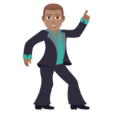 Man Dancing: Medium Skin Tone on JoyPixels 6.5