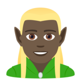 Man Elf: Dark Skin Tone on JoyPixels 6.5