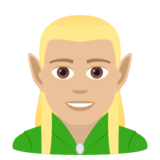 Man Elf: Medium-Light Skin Tone on JoyPixels 6.5
