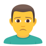 Man Frowning on JoyPixels 6.5