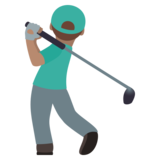 Man Golfing: Medium Skin Tone on JoyPixels 6.5