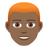 Man: Medium-Dark Skin Tone, Red Hair on JoyPixels 6.5