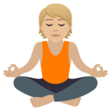Person in Lotus Position: Medium-Light Skin Tone on JoyPixels 6.5