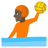 Person Playing Water Polo: Dark Skin Tone on JoyPixels 6.5