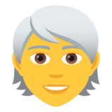 Person: White Hair on JoyPixels 6.5