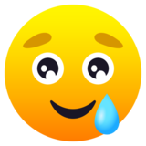 Smiling Face with Tear on JoyPixels 6.5