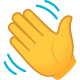 Waving Hand on JoyPixels 6.5