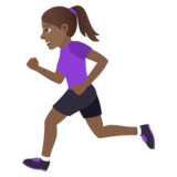 Woman Running: Medium-Dark Skin Tone on JoyPixels 6.5