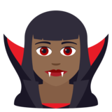 Woman Vampire: Medium-Dark Skin Tone on JoyPixels 6.5