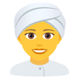 Woman Wearing Turban on JoyPixels 6.5
