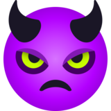 Angry Face with Horns on JoyPixels 6.6