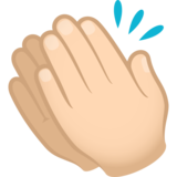 Clapping Hands: Light Skin Tone on JoyPixels 6.6