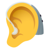 Ear with Hearing Aid on JoyPixels 6.6
