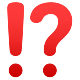 Exclamation Question Mark on JoyPixels 6.6