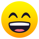 Grinning Face with Smiling Eyes on JoyPixels 6.6