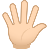 Hand with Fingers Splayed: Light Skin Tone on JoyPixels 6.6
