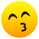 Kissing Face with Smiling Eyes on JoyPixels 6.6