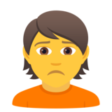 Person Frowning on JoyPixels 6.6