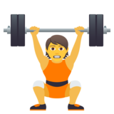 Person Lifting Weights on JoyPixels 6.6