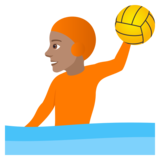 Person Playing Water Polo: Medium Skin Tone on JoyPixels 6.6