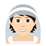 Person With Veil: Light Skin Tone on JoyPixels 6.6