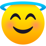 Smiling Face with Halo on JoyPixels 6.6