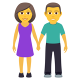 Woman and Man Holding Hands on JoyPixels 6.6