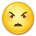 Angry Face on LG G3