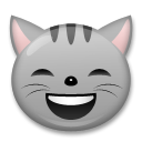 Grinning Cat with Smiling Eyes on LG G3