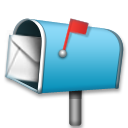 Open Mailbox with Raised Flag on LG G3