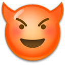 Smiling Face with Horns on LG G3