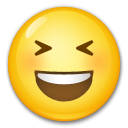 Grinning Squinting Face on LG G3