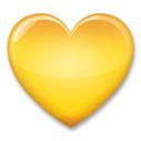 Yellow Heart on LG G3