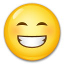 Beaming Face With Smiling Eyes on LG G4