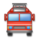 Oncoming Fire Engine on LG G4