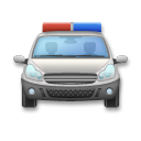 Oncoming Police Car on LG G4
