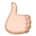 Reversed Thumbs Up Sign on LG G4