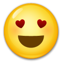 Smiling Face With Heart-Eyes on LG G4